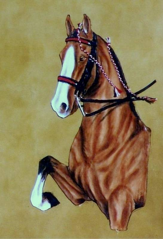 Horses Art Print featuring the painting Saddlebred by Lilly King