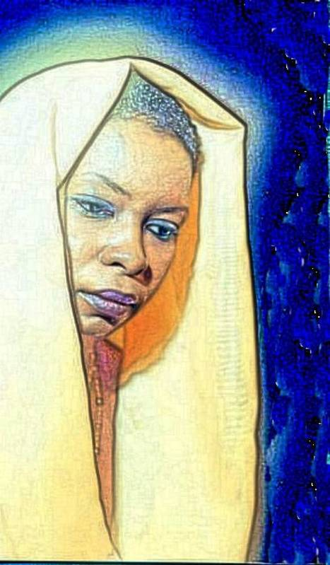 Art Print featuring the painting Queen by Kevin E Taylor Sr MFA