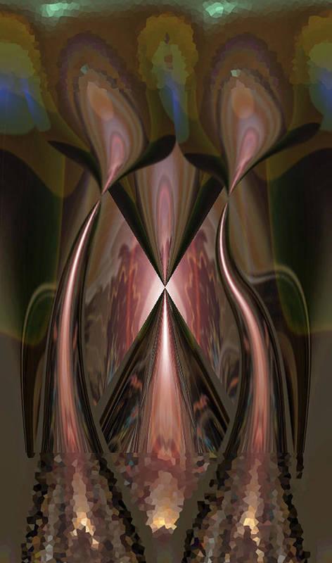 Mocha Art Print featuring the digital art The Enlightened by Beverly Kimble Davis