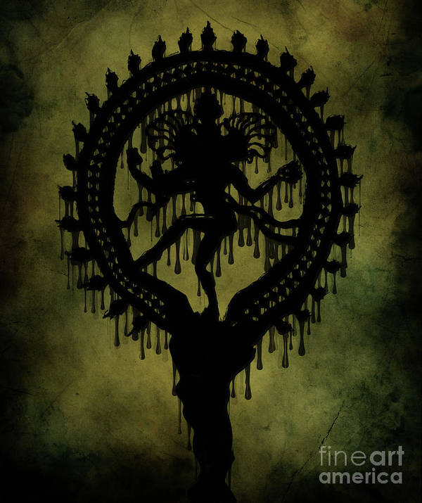 Spiritual Digital Art Art Print featuring the painting Shiva by Cinema Photography