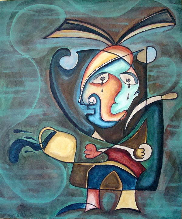 Abstract Art Print featuring the painting Untitled by W Todd Durrance