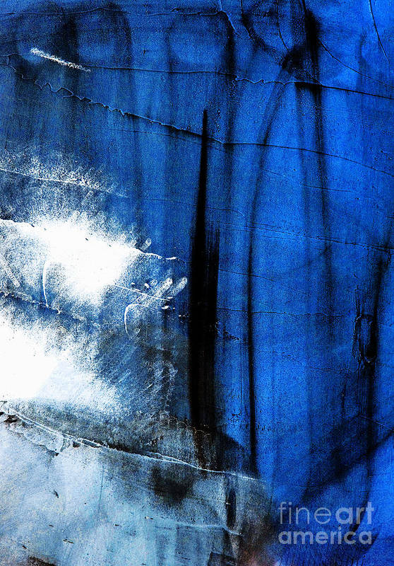 Dark Blue Art Print featuring the photograph Untitled by Vadim Grabbe