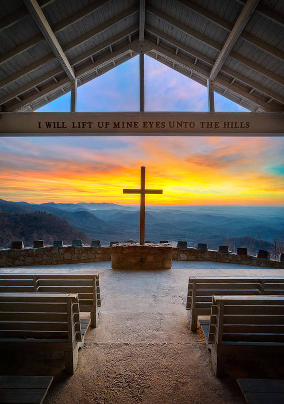 Pretty Place Chapel Art Print featuring the photograph South Carolina Pretty Place Chapel Sunrise Embraced by Dave Allen