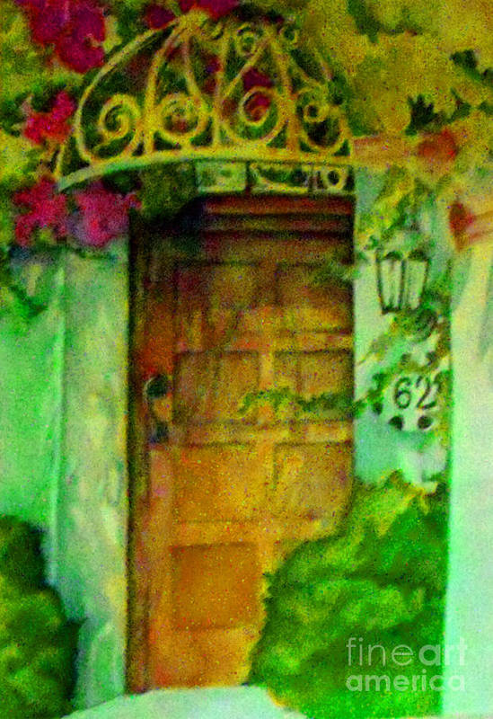 Watercolor Art Print featuring the painting Garden Door by Patricia Halstead