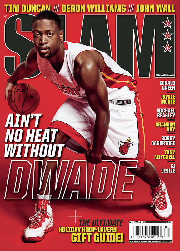 Dwayne Wade Art Print featuring the photograph Ain't No Heat Without D Wade SLAM Cover by Tom Medvedich