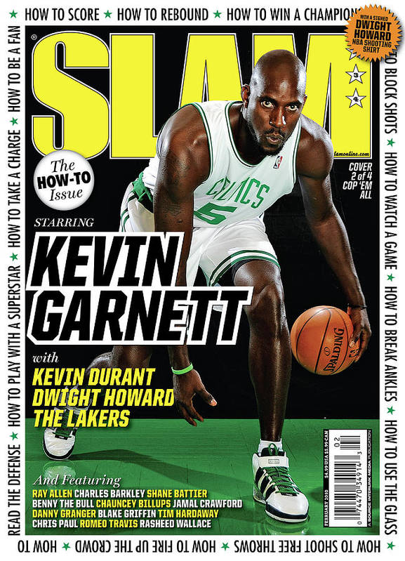 Kevin Garnett Art Print featuring the photograph Kevin Garnett SLAM Cover by Getty Images