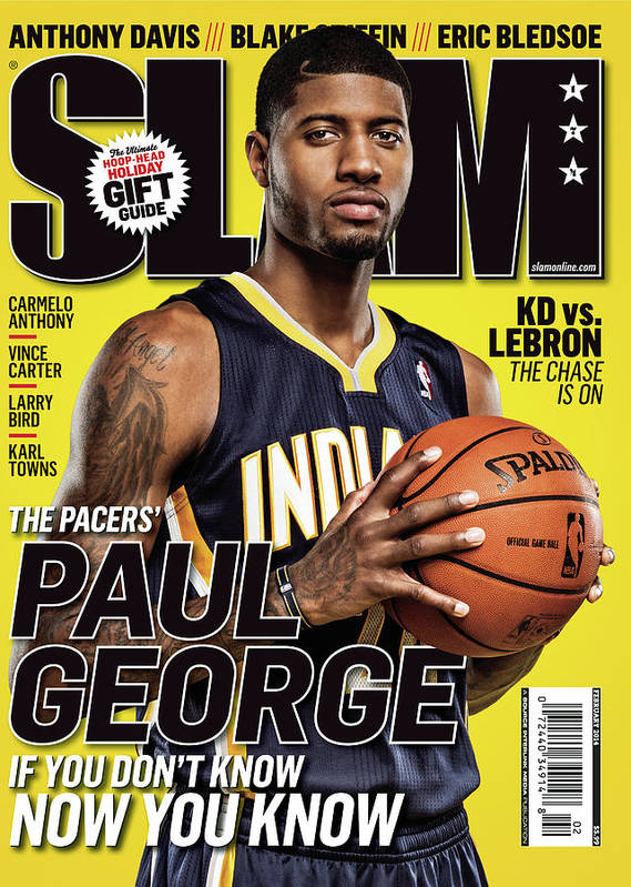 Paul George Art Print featuring the photograph Paul George: If You Don't Know, Now You Know SLAM Cover by Tom Medvedich