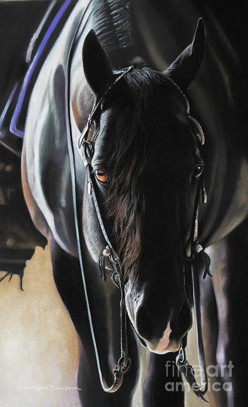 Aqha Art Print featuring the pastel Any Time...Any Place by Joni Beinborn