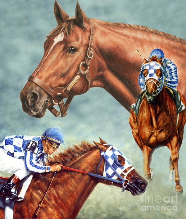 Secretariat Print featuring the painting Secretariat - The Legend by Thomas Allen Pauly