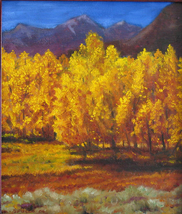 Landscape Art Print featuring the painting Aspens by Dan Fusco