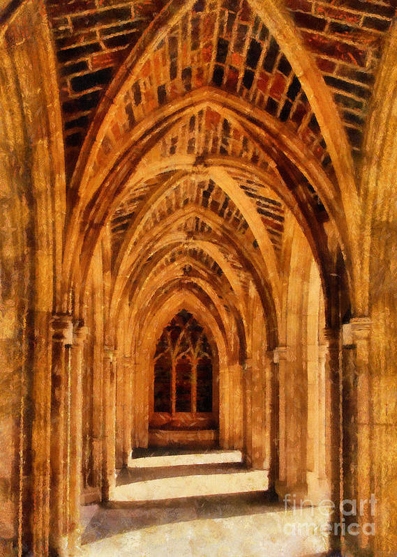 Duke University Art Print featuring the photograph Duke Chapel by Betsy Foster Breen
