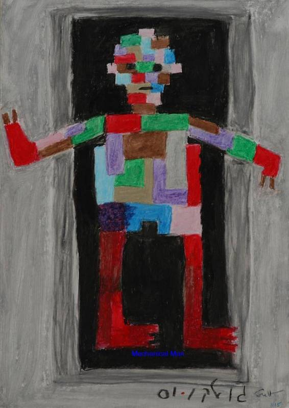Children Art Print featuring the painting Mechanical Man by Harris Gulko