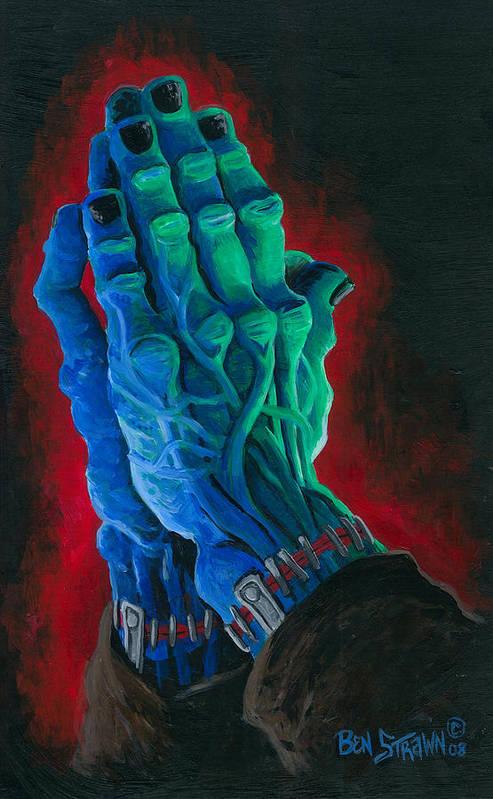 Ben Von Strawn Art Print featuring the painting Belong Dead by Ben Von Strawn