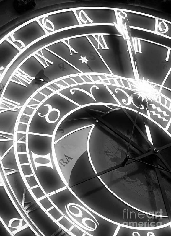 Prague Astronomical Clock Art Print featuring the photograph Prague Astronomical Clock by John Rizzuto