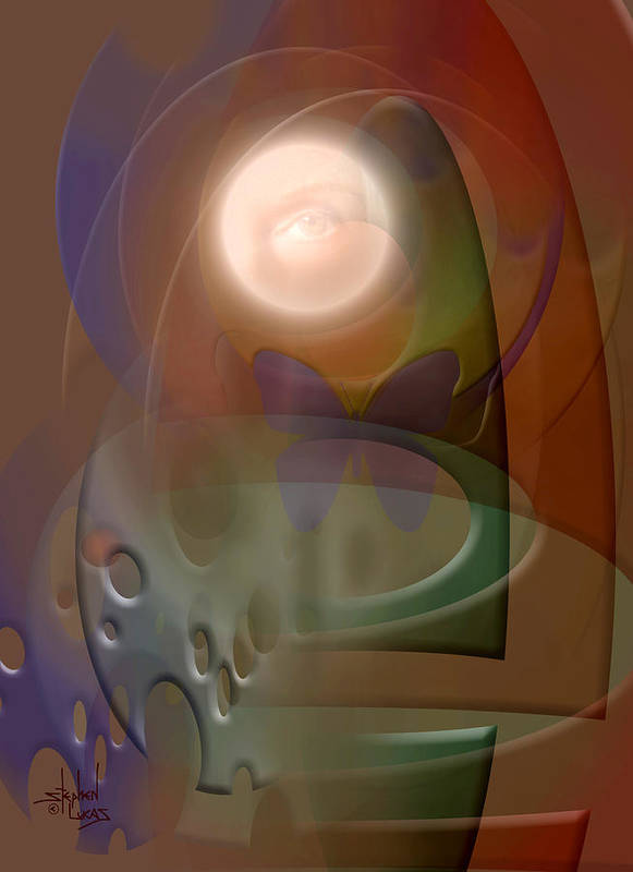 Abstract Art Print featuring the digital art Rebirth by Stephen Lucas