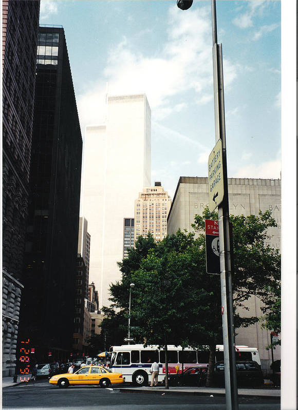 New York Art Print featuring the photograph Towers Of Light by Robert Collier