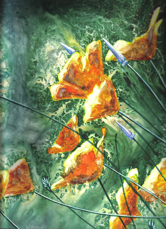 Wildflowers Art Print featuring the painting Wildflowers by Marsha Elliott