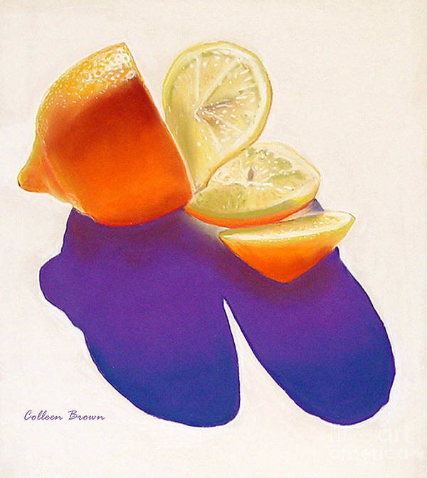Still Life Art Print featuring the painting Lemon Slice by Colleen Brown