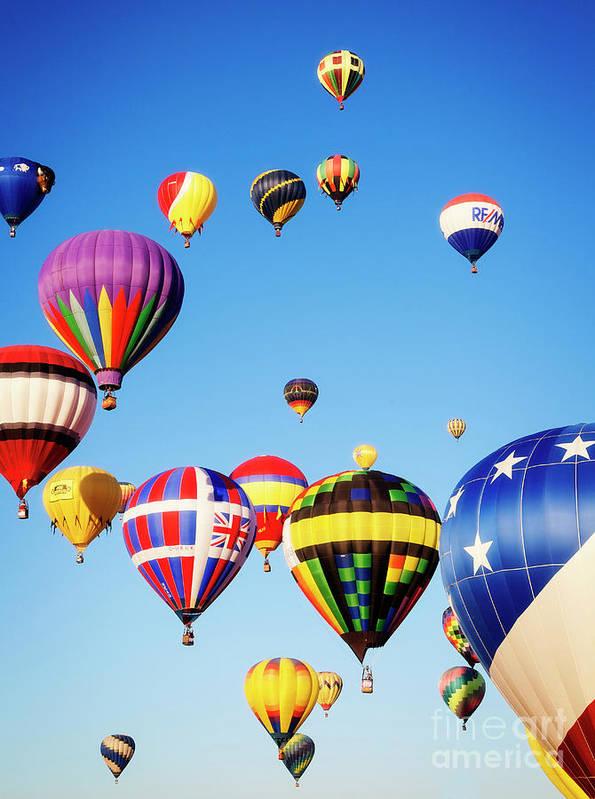 Balloons Art Print featuring the photograph Taking Flight by Scott Kemper