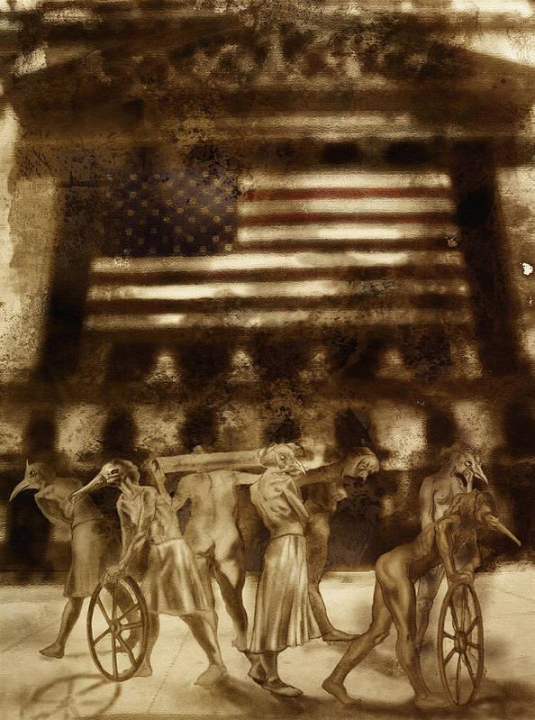 Figure Art Print featuring the digital art Amerika by Tom Durham