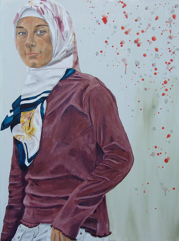Girl Art Print featuring the painting Daughter Of The Prophet by Kevin Callahan