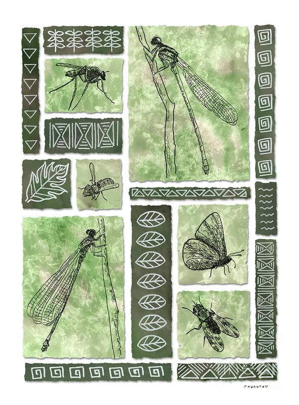 Hawaii Art Print featuring the painting Insects Of Hawaii II by Diane Thornton