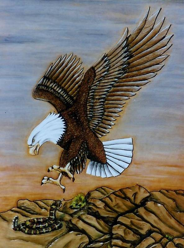 Animals Art Print featuring the painting Look Out. by Lilly King