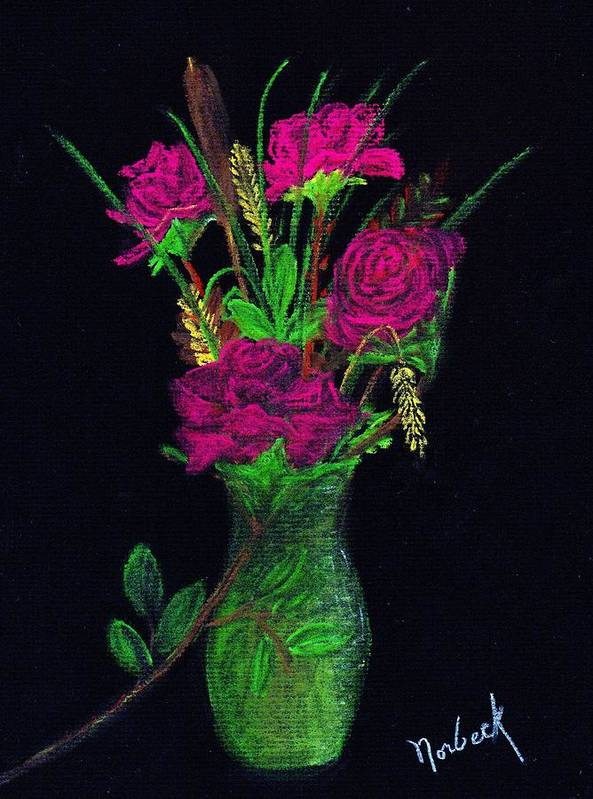 Norbeck Art Print featuring the painting One More Rose by Thomas J Norbeck