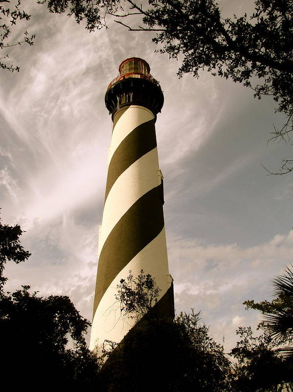 Lighthouse Art Print featuring the photograph St. Augustine Light House by Kimberly Camacho
