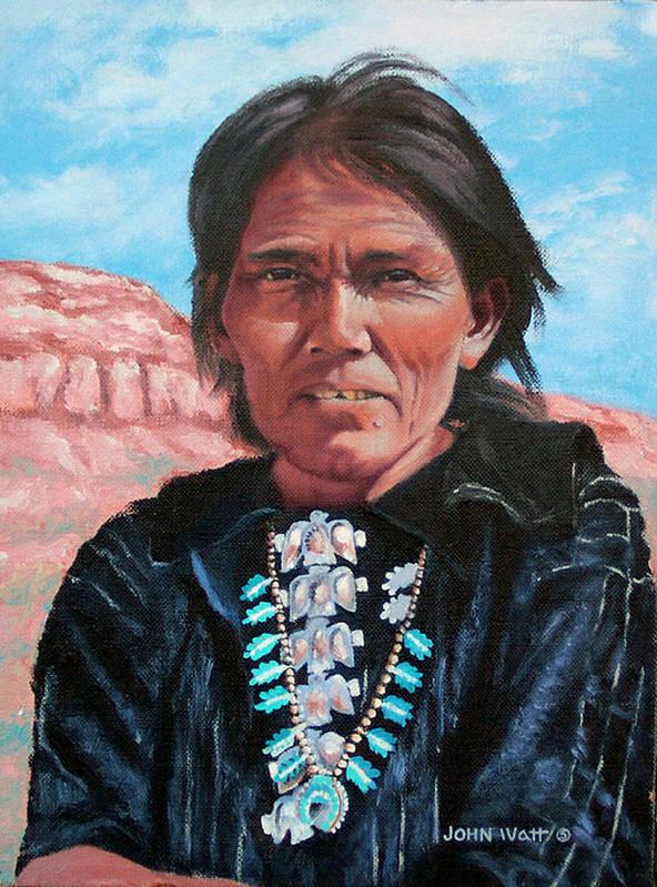 Navajo Indian Southwestern Monument Valley Art Print featuring the painting Thunderbirds by John Watt
