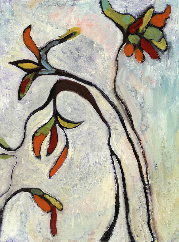 Painting Art Print featuring the painting Weeds2 by Michelle Spiziri