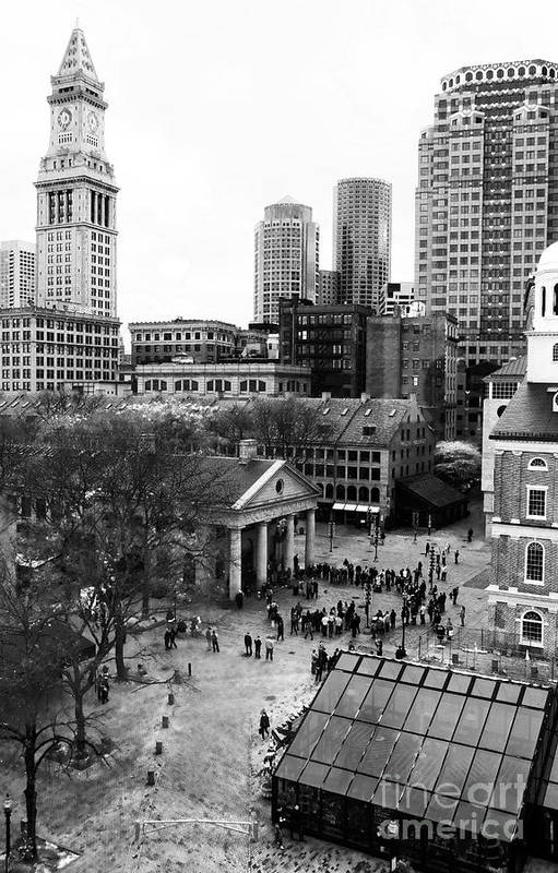 Faneuil Hall Art Print featuring the photograph Faneuil Hall Marketplace by John Rizzuto