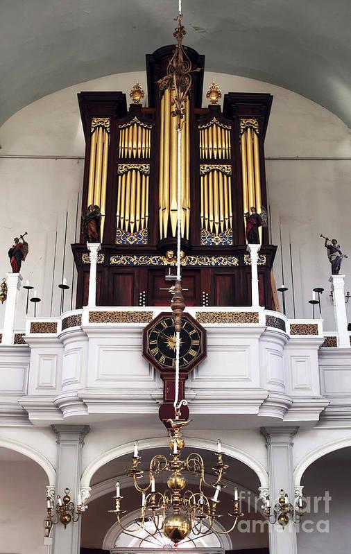 Old North Church Organ Art Print featuring the photograph Old North Church Organ by John Rizzuto