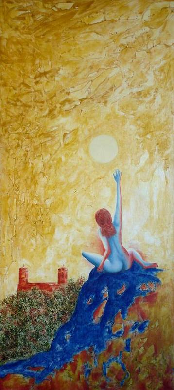 Nude Art Print featuring the painting Central Park Venus No. 5. by Michael Price