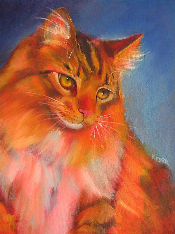 Maine Coon Cat Art Print featuring the painting Romeo by Kaytee Esser