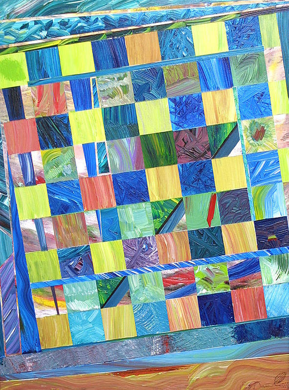 Chess Board Art Print featuring the painting Stained Glass Sanctuary by Eric Devan