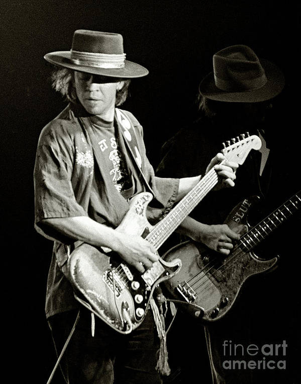 Stevie Ray Vaughan 1984 by Chuck Spang