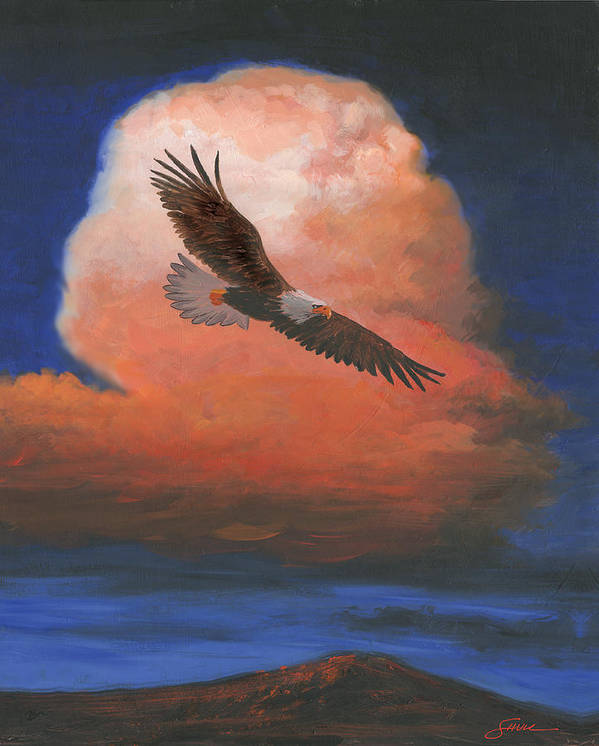 #shull Art Print featuring the painting Soaring by Harold Shull