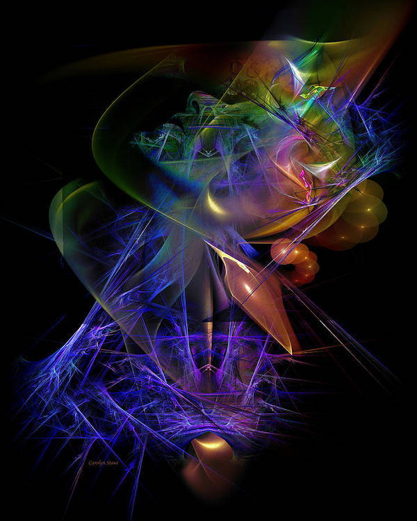 Digital Art Print featuring the digital art Drenched in Color by Carolyn Staut