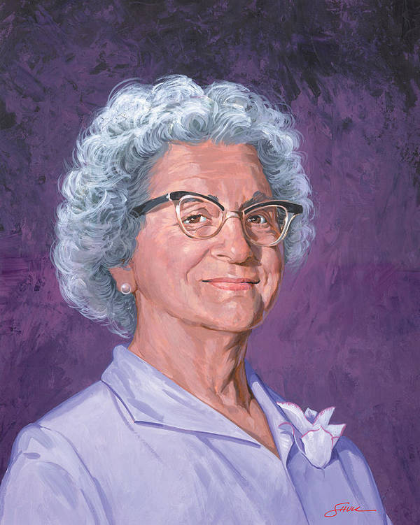 Portrait Art Print featuring the painting Louise Shull by Harold Shull