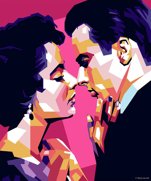 Elizabeth Taylor and Montgomery Clift by Stars on Art