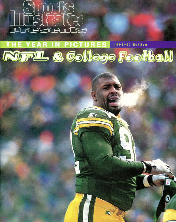 Green Bay Art Print featuring the photograph Green Bay Packers Reggie White, 1997 Nfc Championship Sports Illustrated Cover by Sports Illustrated