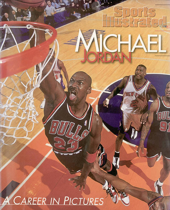 Nba Pro Basketball Art Print featuring the photograph Michael Jordan A Career In Pictures Sports Illustrated Cover by Sports Illustrated