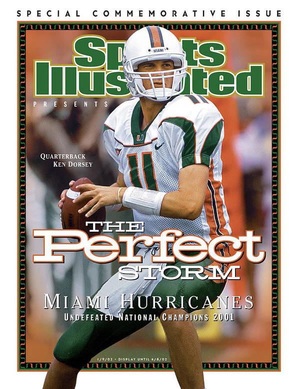 Sports Illustrated Art Print featuring the photograph University Of Miami Qb Ken Dorsey, 2001 Ncaa National Sports Illustrated Cover by Sports Illustrated