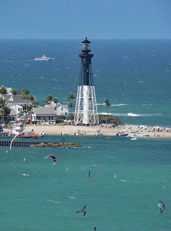Full House at the Hillsboro Inlet and Lighthouse in Florida by Corinne Carroll