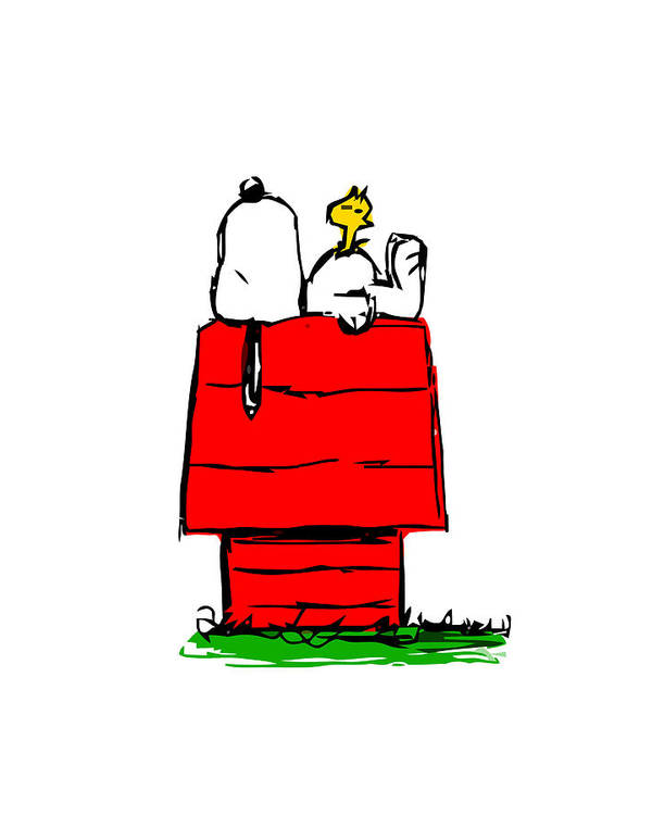 Snoopy Woodstock House by Peter B Lutes