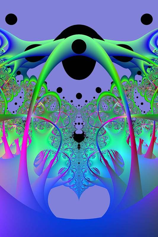 Fractal Art Print featuring the digital art Oodle World by Frederic Durville