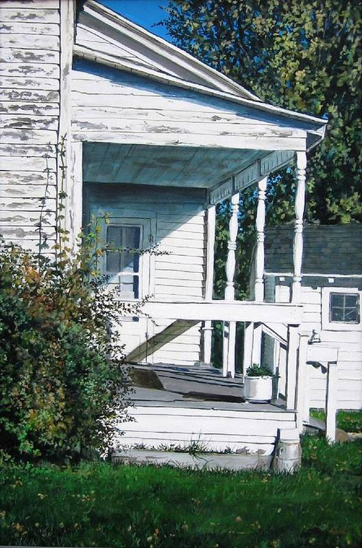 Farmhouse Art Print featuring the painting Threshold by William Brody