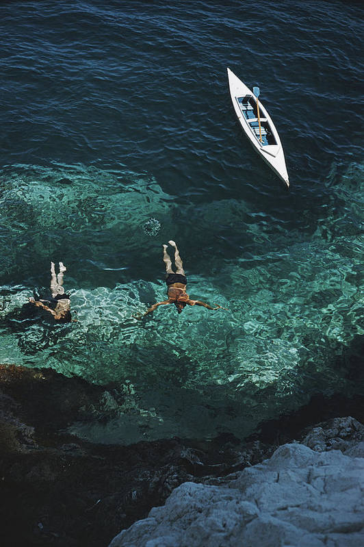 People Art Print featuring the photograph Capri Holiday by Slim Aarons