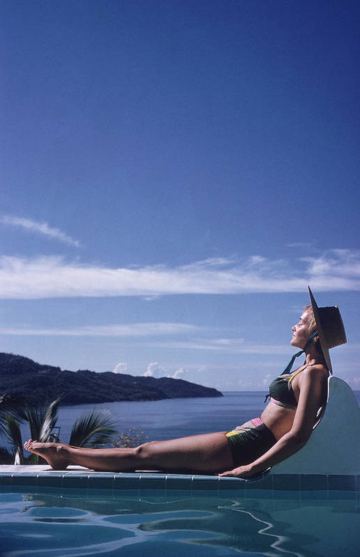 People Art Print featuring the photograph Between Sea And Sky by Slim Aarons